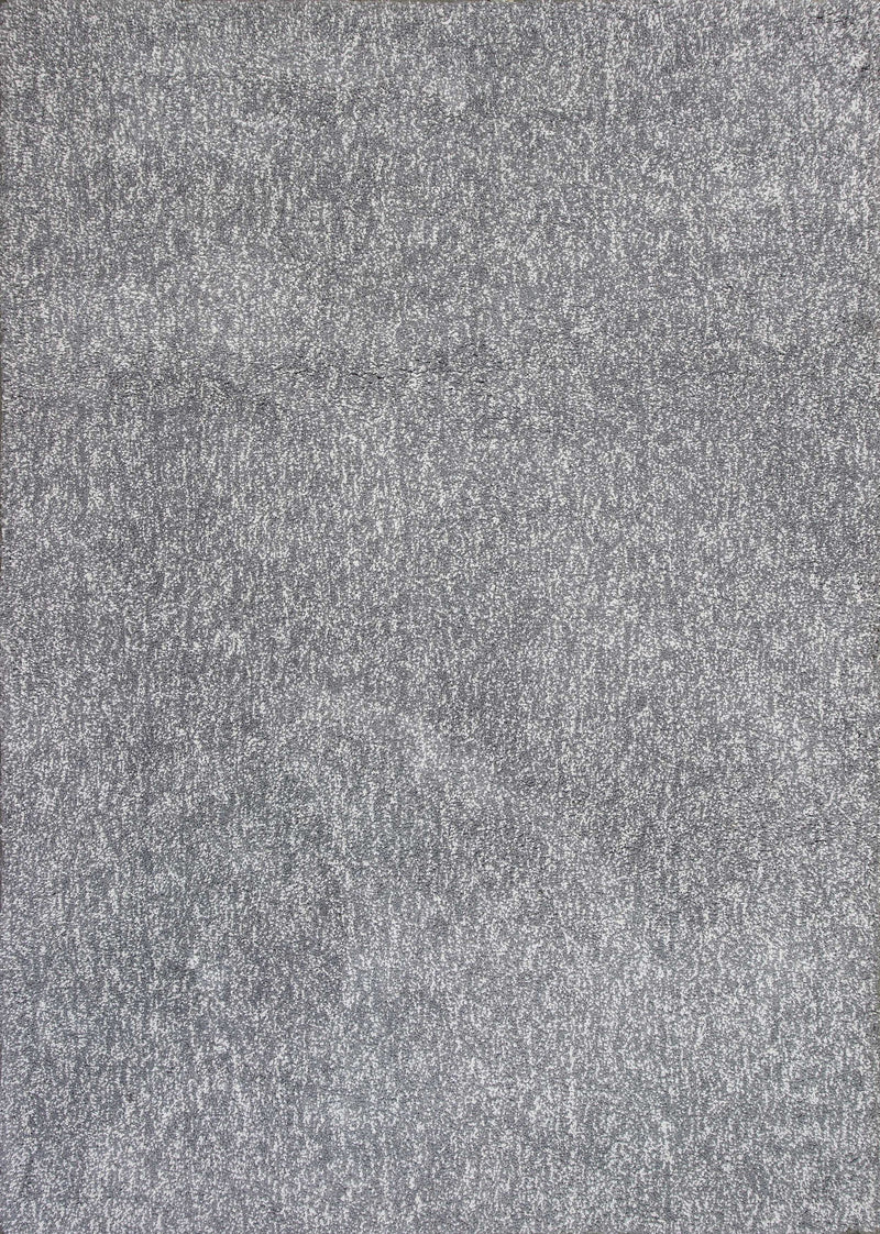 9' x 13' Polyester Grey Heather Area Rug