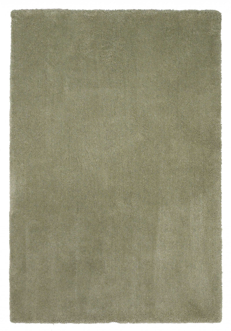 9' x 13' Polyester Sage Area Rug