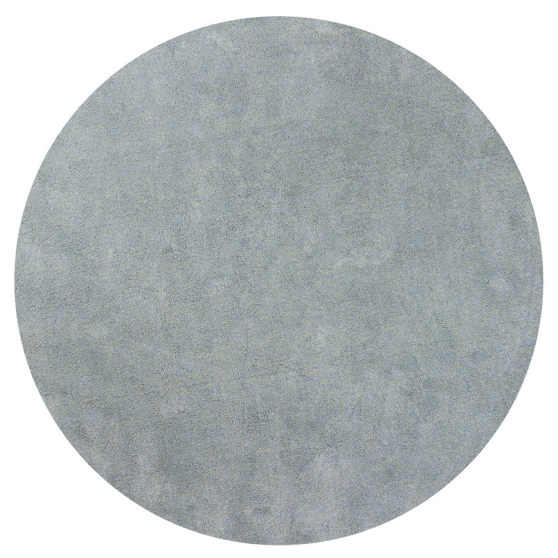 6' Round Polyester Blue Heather Area Rug