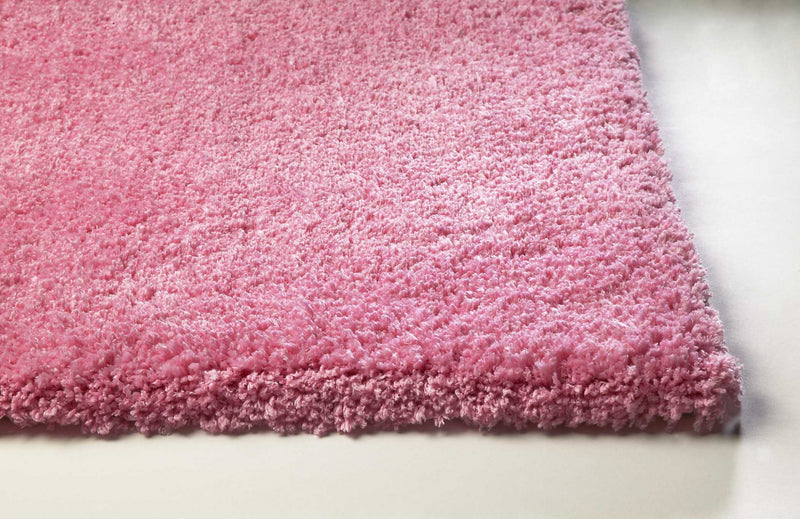 5' x 7' Polyester Hot Pink Area Rug