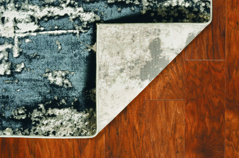 "5'3"" x 7'7"" Polyester Silver Charcoal Area Rug"