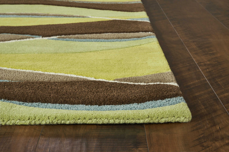 5' x 8' Wool Lime/Mocha Area Rug