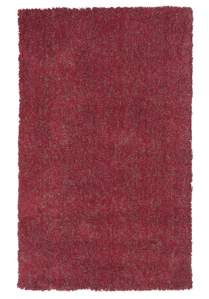 "27"" X 45"" Polyester Red Heather Area Rug"