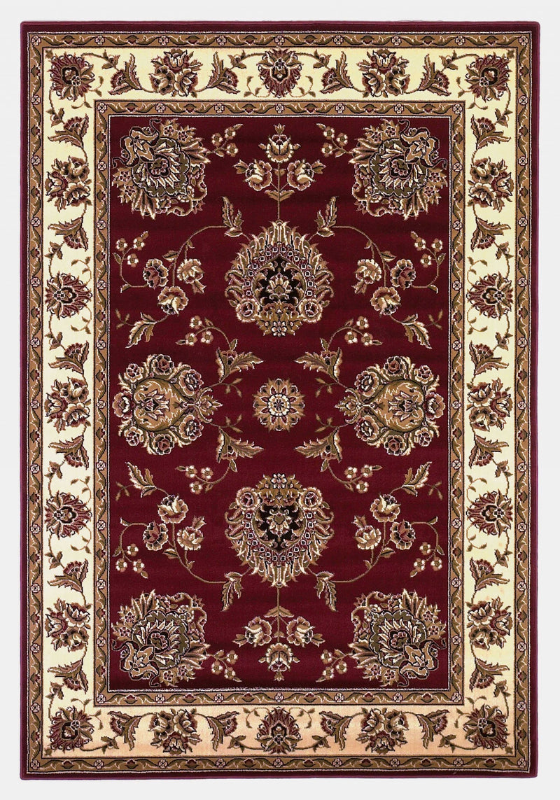 "3'3"" x 4'11"" Polypropylene Red/Ivory Area Rug"