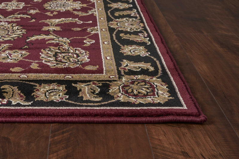 "3'3"" x 4'11"" Polypropylene Red/Black Area Rug"