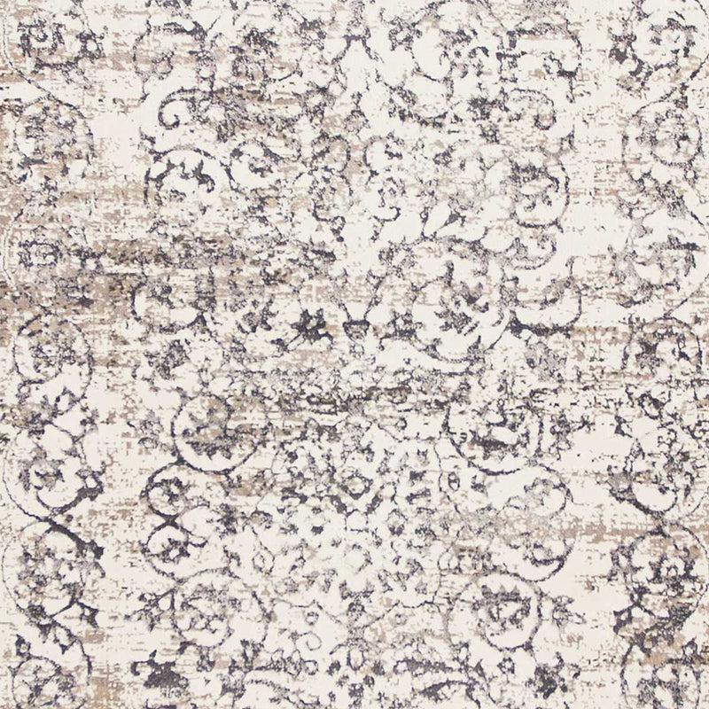 "2'2"" x 6'11"" Runner Polypropylene Ivory/Grey Area Rug"