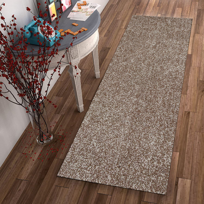 "2'3"" x 7'6"" Runner Polyester Beige Heather Area Rug"