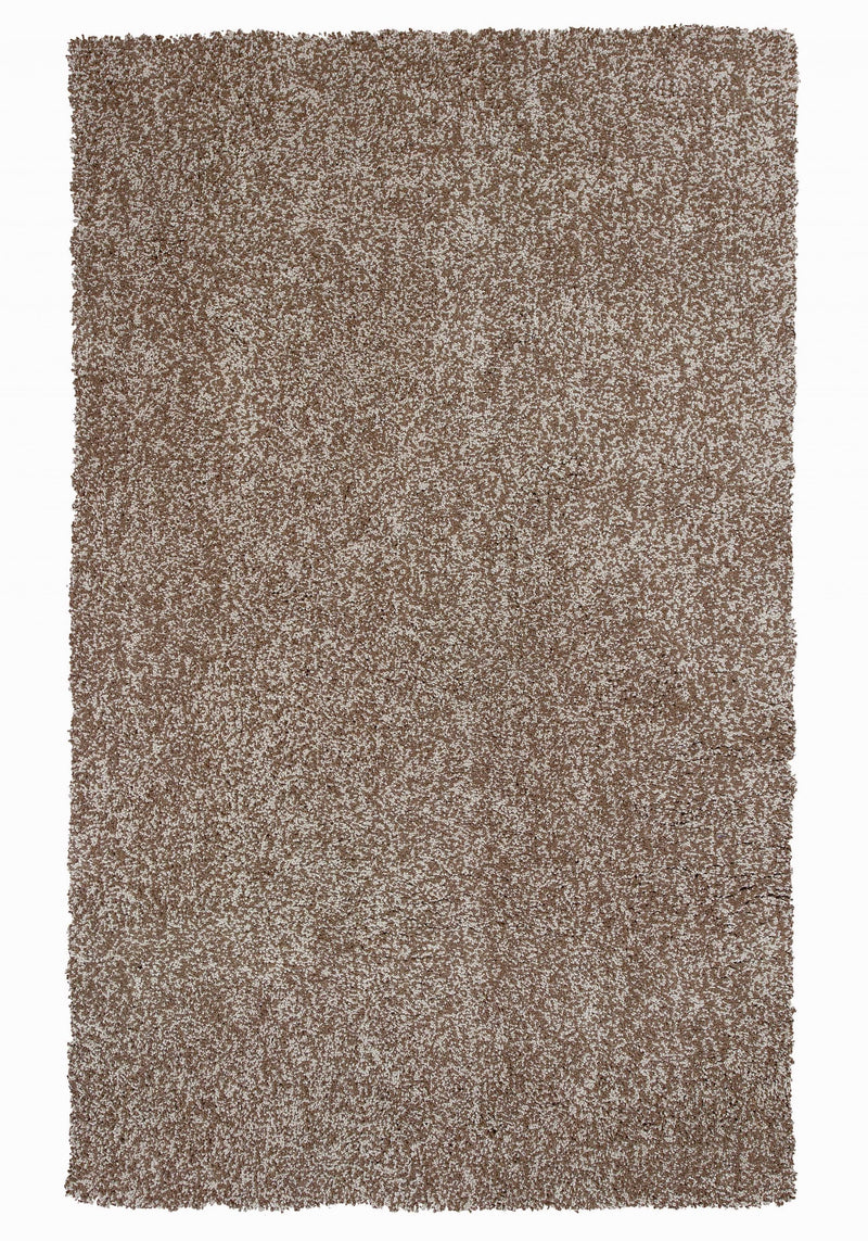 "3'3"" x 5'3"" Polyester Beige Heather Area Rug"