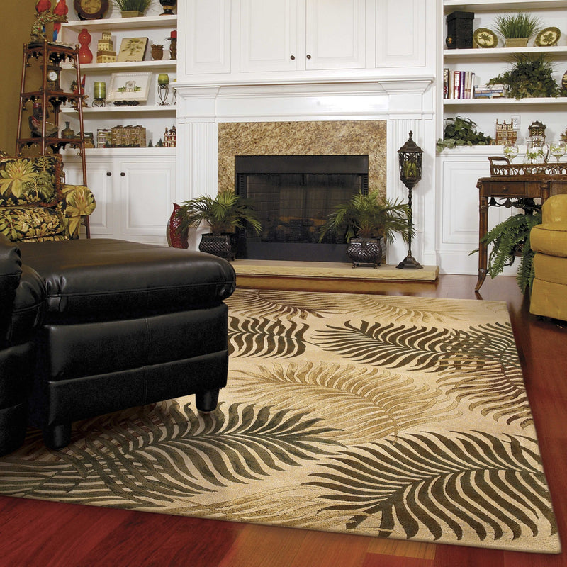 "30"" X 50"" Wool Natural Area Rug"