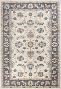 "5'3"" x 7'7"" Polypropylene Ivory/Grey Area Rug"