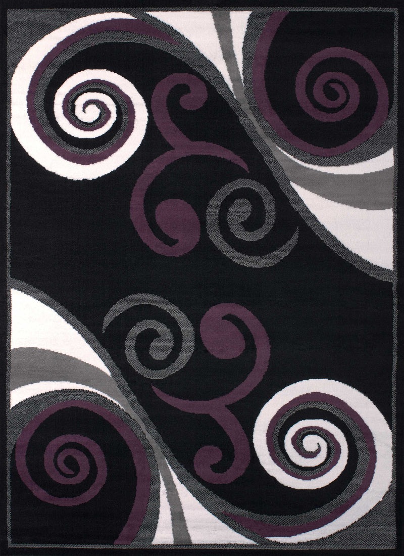 "27"" x 86"" x 0.31"" Black Polypropyelene Runner Rug"
