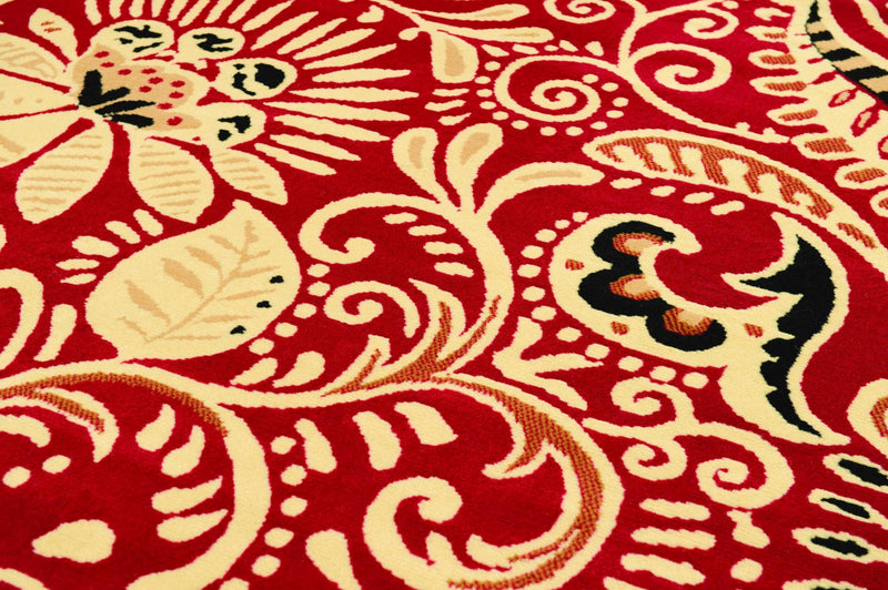"33"" x 39"" x 0.31"" Red Polypropyelene Accent Rug"