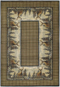 "47"" x 63"" x 0.45"" Natural Polypropylene Accent Rug"