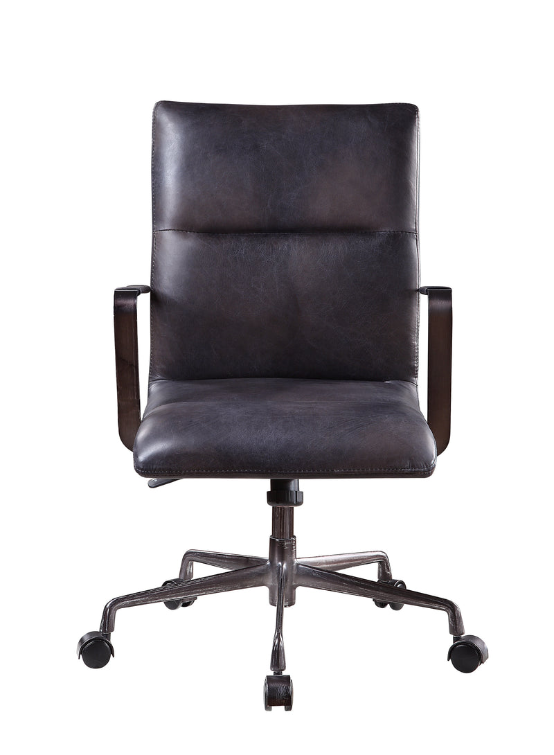 5 Star Base Faux Leather Upholstered Wooden Office Chair, Black