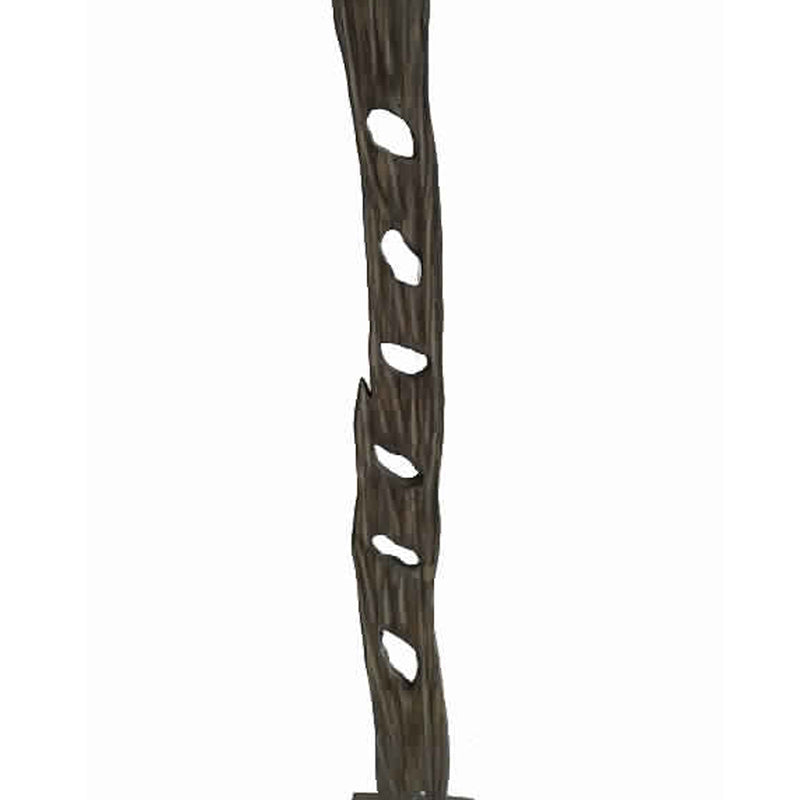 Contemporary Standalone Wooden Art Sculpture with Trunk Design, Brown