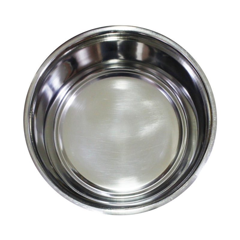 Stainless Steel Pet Bowl with Anti Skid Rubber Base and Dog Design, Gray and Pink Set of 6