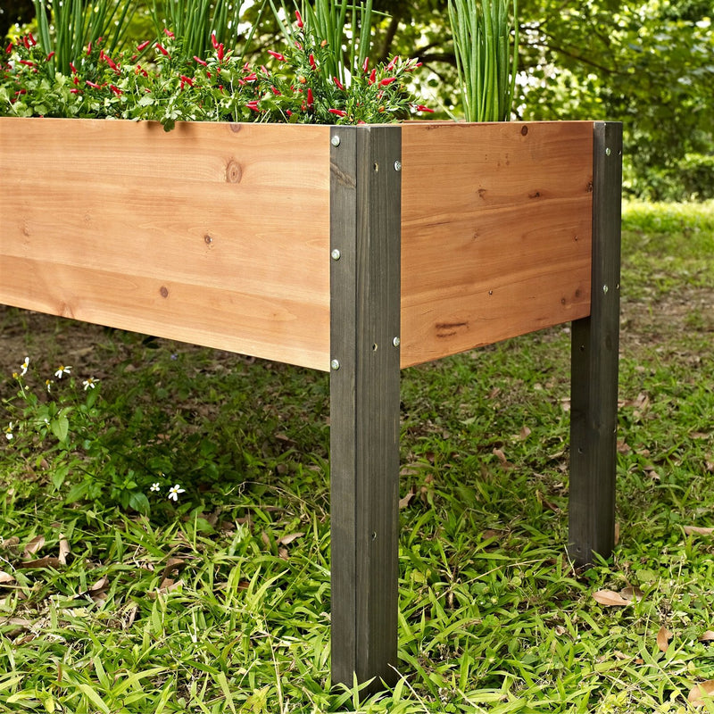 Elevated Outdoor Raised Garden Bed Planter Box - 70 x 24 x 29 inch High