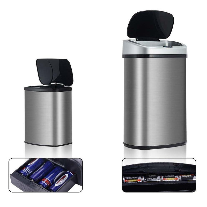 Modern No-Touch Motion Activated Kitchen Trash Can - Set of 2
