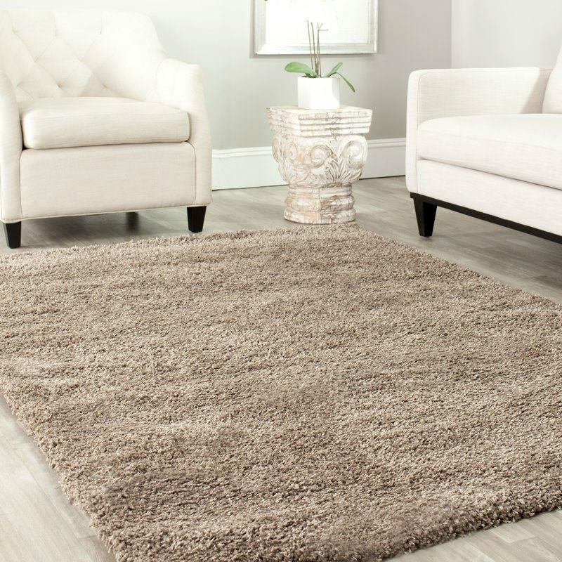 "5'3"" x 7'6"" Hand-Tufted Plush Taupe Area Rug"
