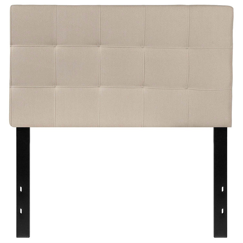 Twin size Modern Beige Taupe Fabric Upholstered Headboard