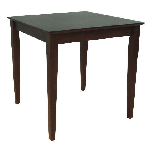 Black Square Wood Dining Table Contemporary Style w/ Shaker Legs