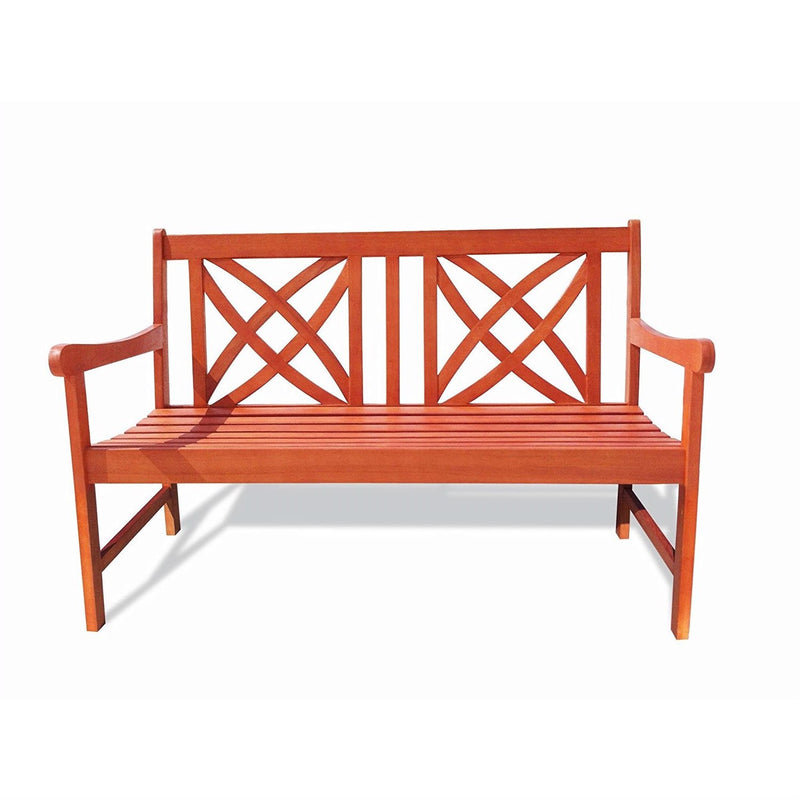 Outdoor Weather Resistant Eucalyptus Wood 4-ft Garden Bench