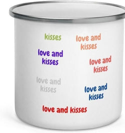 Devoraels Hugs and Kisses Enamel Mug-Devoraels.Ltd