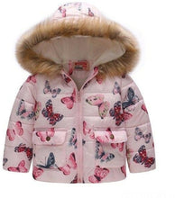 Load image into Gallery viewer, Keaiyouhuo Baby Girl Puffer Jacket Flower Printing 2-6 Years Old-Devoraels.Ltd