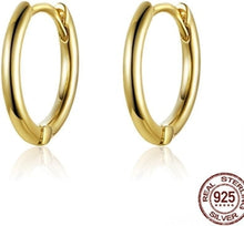 Load image into Gallery viewer, Unique Earrings Circle Stud Gold Plated Earrings 925 Sterling Silver-Devoraels.Ltd