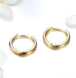 Unique Earrings Circle Stud Gold Plated Earrings 925 Sterling Silver-Devoraels.Ltd
