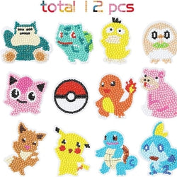 ZZZTEE DIY Kids Painting Kits Pikachu Stickers-Devoraels.Ltd