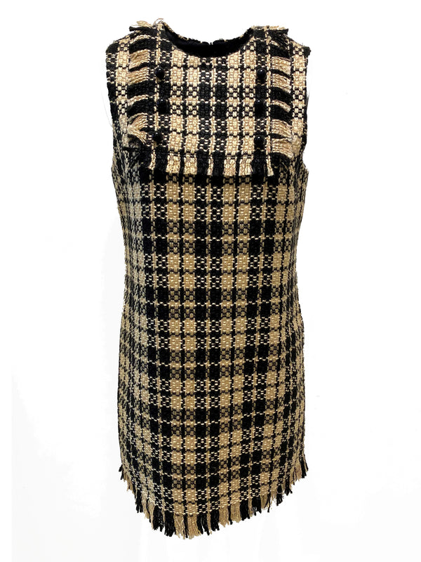 Tweed Checkered Dress
