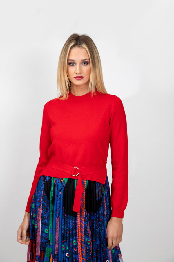 Uptown Girl Pleated Knit Dress