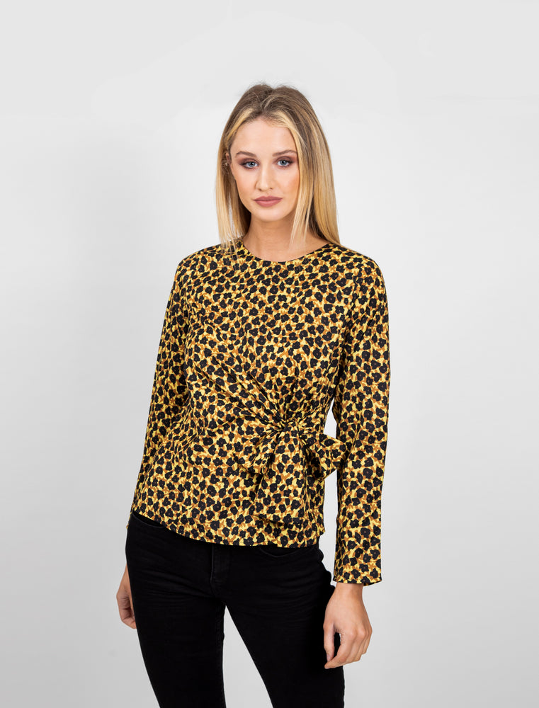 Colour Cluster Print Blouse