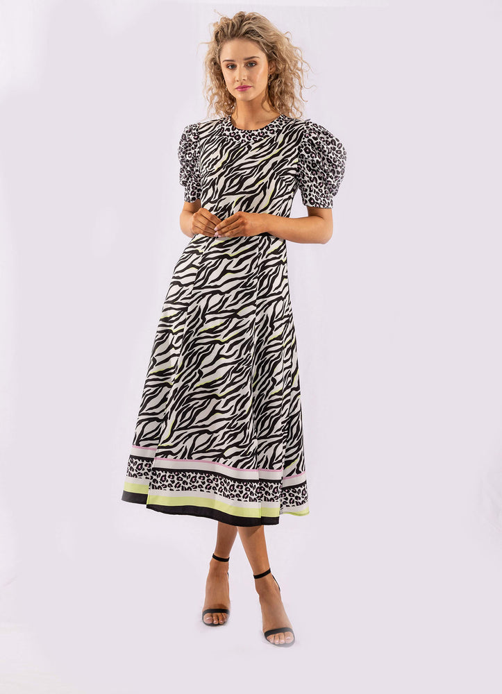 WILD THING PRINT MIX DRESS