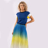 SUNSET SUNRISE PLEATED SKIRT