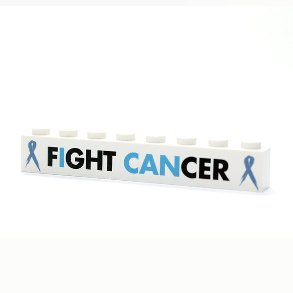 Fight Cancer - 1x8 Badge - White