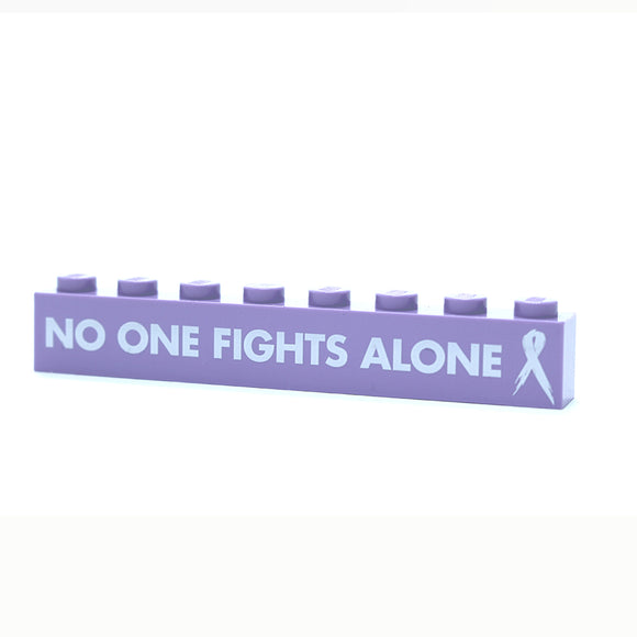 No One Fights This Alone - 1x8 Badge - Lavendar