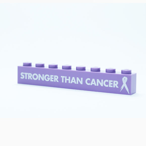 Stronger Than Cancer - 1x8 Badge - Lavendar