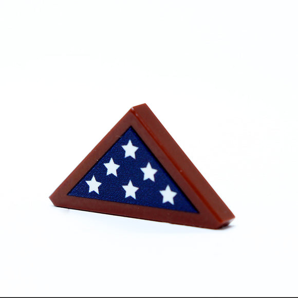 2x2 - Framed Folded Flag