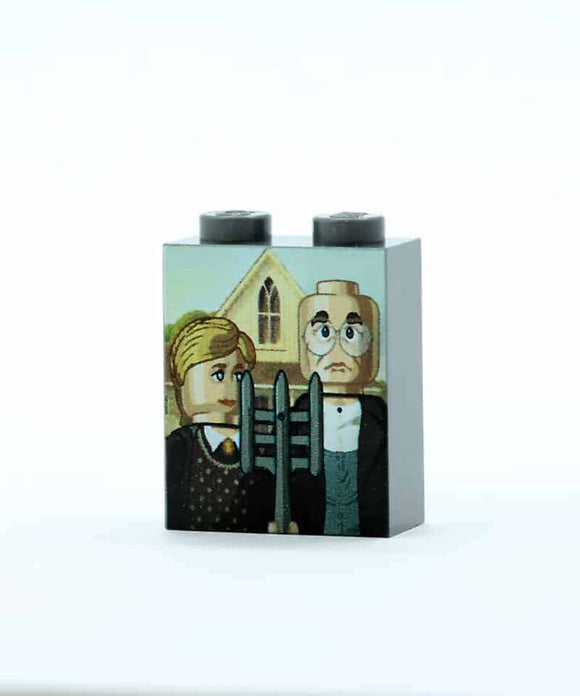 American Gothic Poster Brick