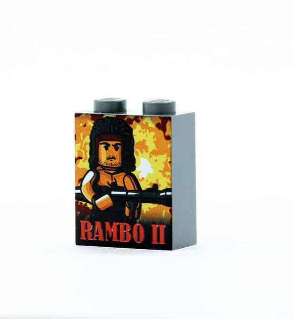 Rambo 2 Movie Poster Brick