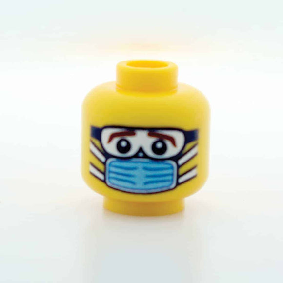 Blue Surgical Mask - Goggles - Male - Yellow