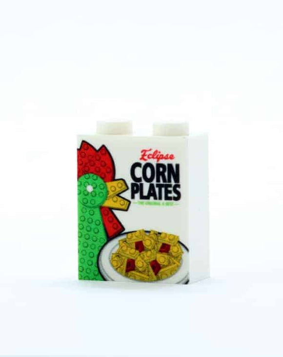 Corn Plates Cereal Box