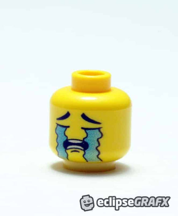 Crying Face - Male - Yellow