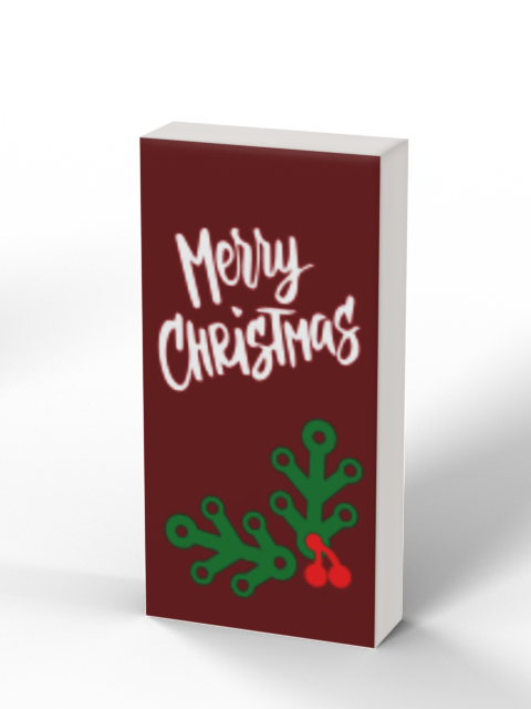 1x2 Holiday Greeting Card - Merry Christmas