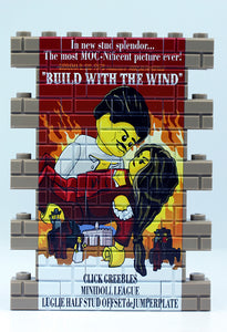 Wall Mural - Build With the Wind - dark tan