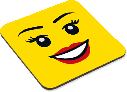 Female Smiley - Coaster