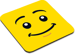 Male Smiley - Coaster