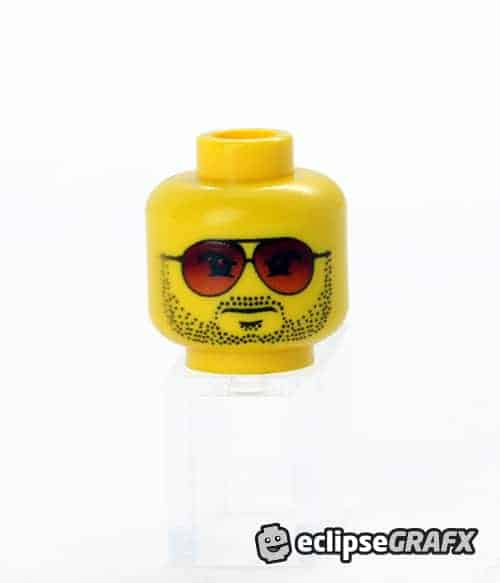Red Aviator Stubble - Male - Yellow